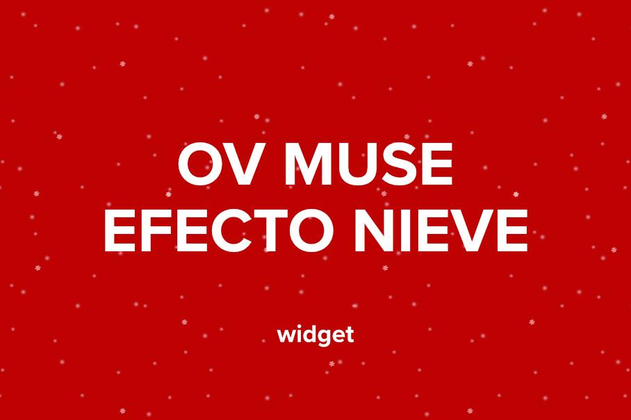 OV Nieve widget para adobe muse