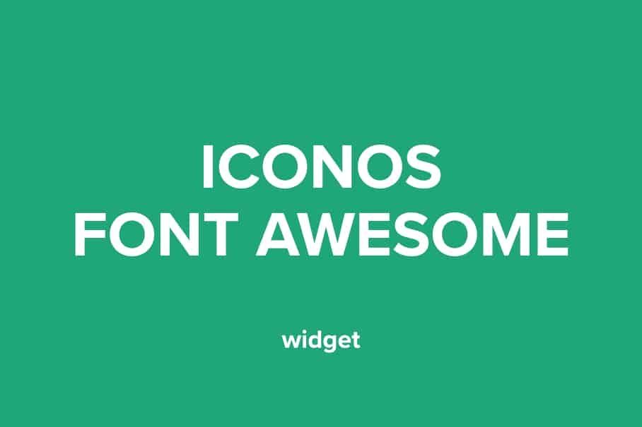 Font Awesome widget para adobe muse