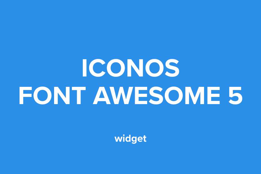 OV Font Awesome 5 widget para adobe muse